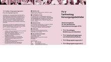 Seminarangebot zur TV-V Svhulung