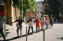 Bild von einer Menschenkette