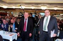 Bundesfachbereichsleiter Ver- und Entsorgung, Erhard Ott, und Bundesumweltminister Peter Altmaier (CDU).