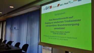 """Symposium """"Das Menschenrecht auf Zugang zu sauberem Trinkwasserund sanitärer Grundversorgung"""""""