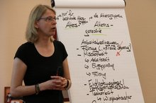 Doreen Lindner beim Workshop zur Demografie auf der TV-V-Anwendertagung 2016