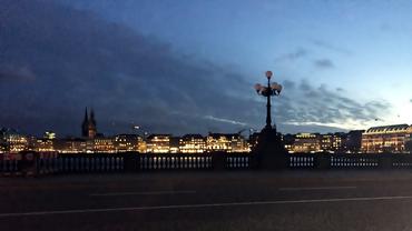 Hamburg Silhouette Panorama