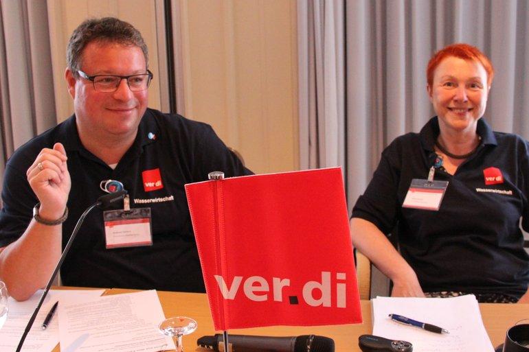 Andreas Kahlert und Clivia Conrad auf der 19. BR/PR-Konferenz Wasserwirtschaft
