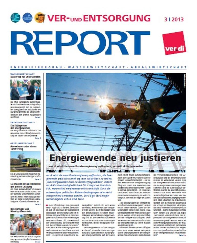 Bild von Deckblatt Report 03 / 2013