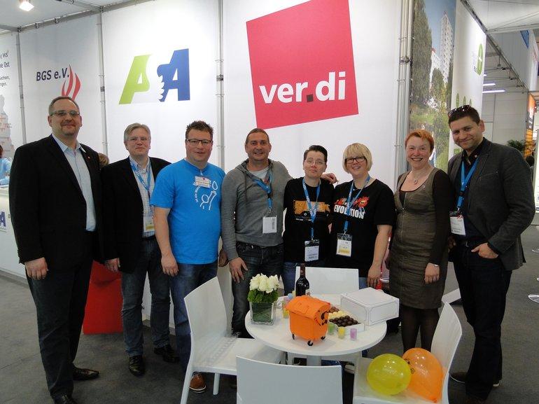 IFAT 2014 mit zahlreichen Geburtstagssekretären ;-)