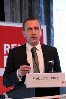 Prof. Jörg Lässig auf der 20. BR/PR Konferenz Wasserwirtschaft