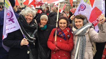 Equal Pay Day 2018 Aktion Brandenburger Tor