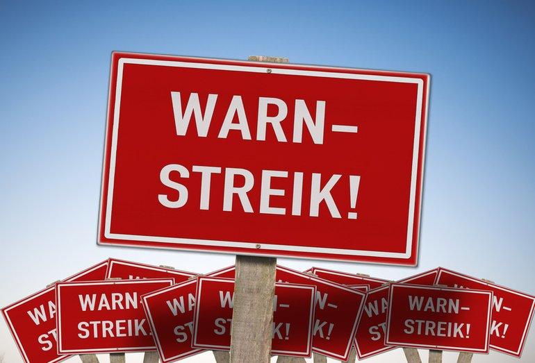 Warnstreik Streik