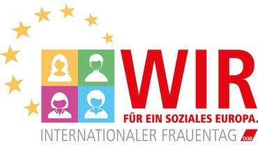 DGB Frauen IFT Frauentag 2019 Logo (weiß)