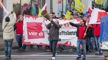 Warnstreiks zur #Troed2018, hier in Duisburg