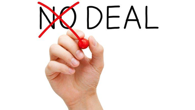 No deal Verhandlung Schlichtung