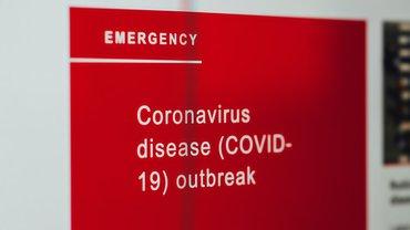 Corona Covid-19 Virus Notfall Alarm Warnung Hinweis Schild