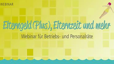 """Logo """"Sprungbrett"""": Webinar für Betriebs- und Personalräte (Elterngeld)"""
