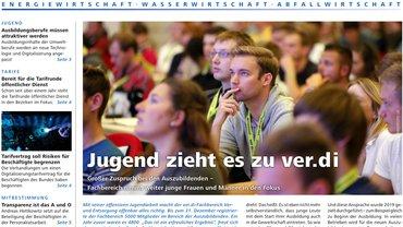 Report Magazin Ver- und Entsorgung, Cover Ausgabe 01/2020