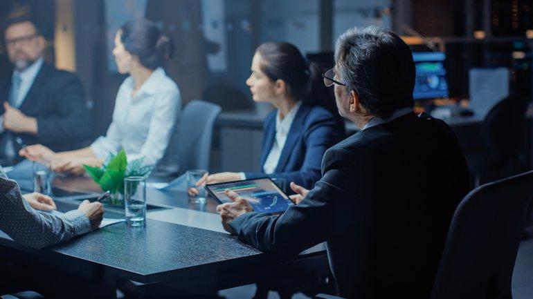 Verhandlung Business Team Gruppe Office Meeting