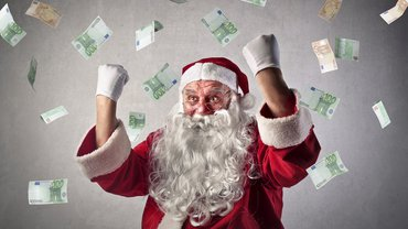 Weihnachten Weihnachtsgeld Erfolg Jubel Freude Geld Weihnachtsmann