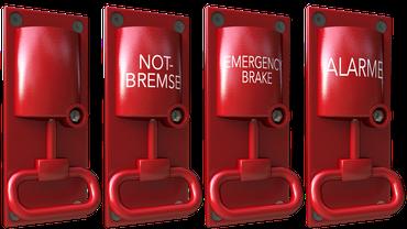 Notbremse Nothalt Emergency Break