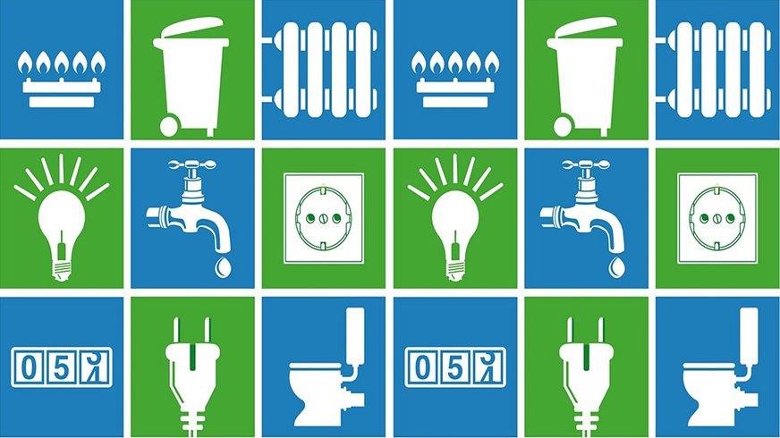 Themen Versorgung Entsorgung Icons