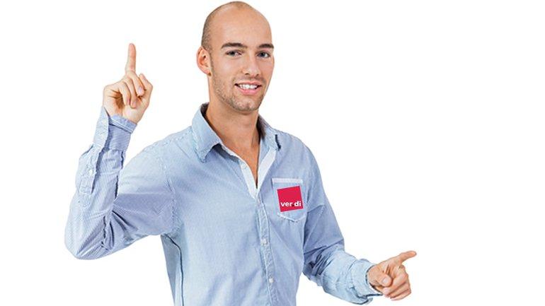 Freude Jubel Abschluss Mann Hände Finger Sieg