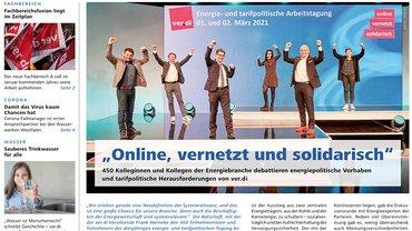 Report Magazin Ver- und Entsorgung, Cover Ausgabe 01/2021