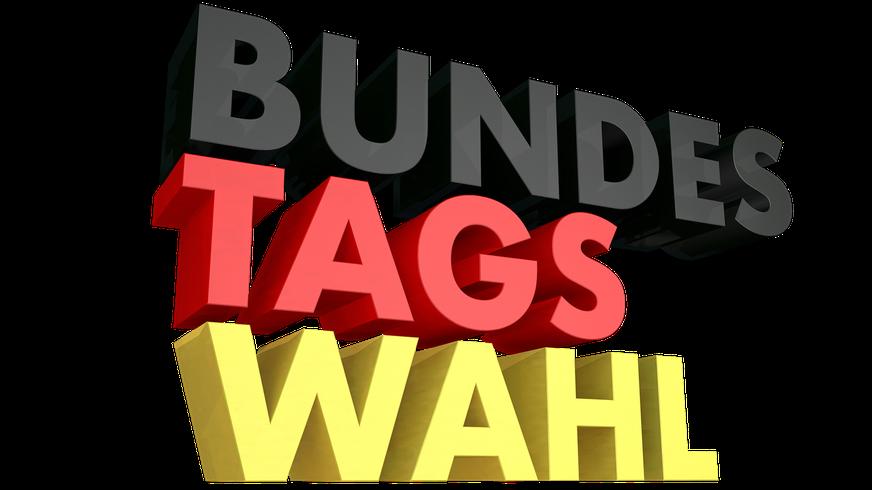 Bundestagswahl Schriftzug