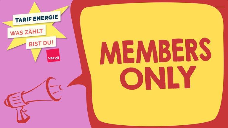 Members only Nur für Mitglieder Megafon Tarif Energie Illustration