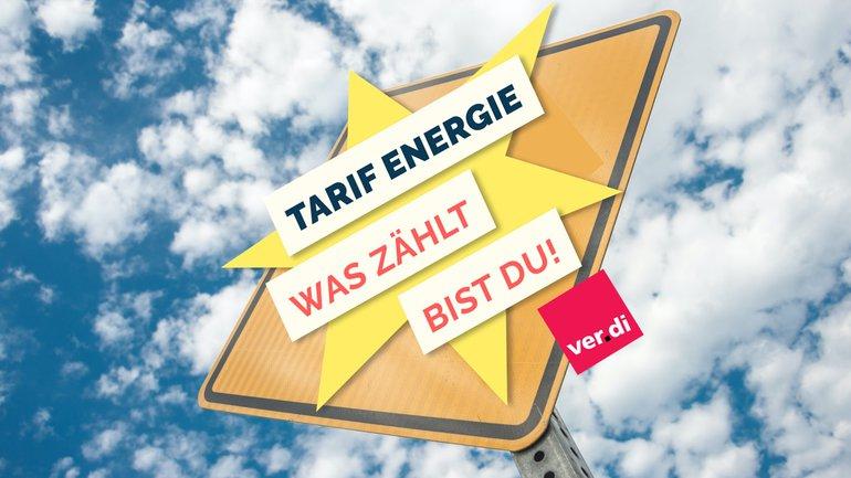 Wegweiser Verkehrsschild Tarif Energie Logo