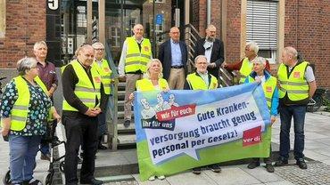 Aktion und offener Brief der Seniorengruppe Münster-Warendorf